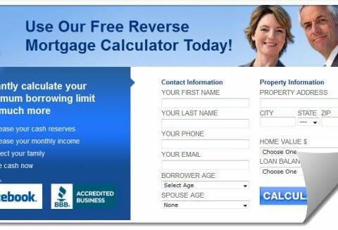 Screenshot of http://www.reversemortgageadviser.com/calculator.asp