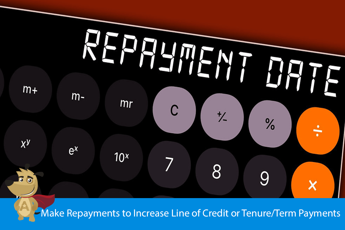 Make Repayments to Increase Line of Credit or Tenure/Term Payments