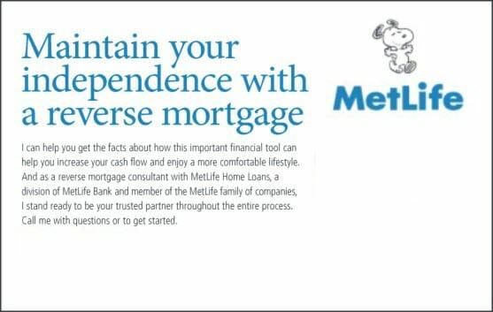 MetLife reverse mortgage advertisement