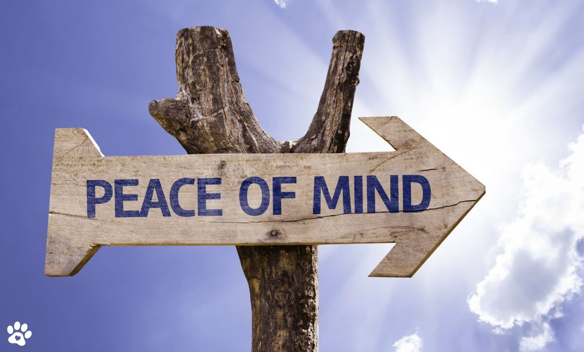sign that says peace of mind