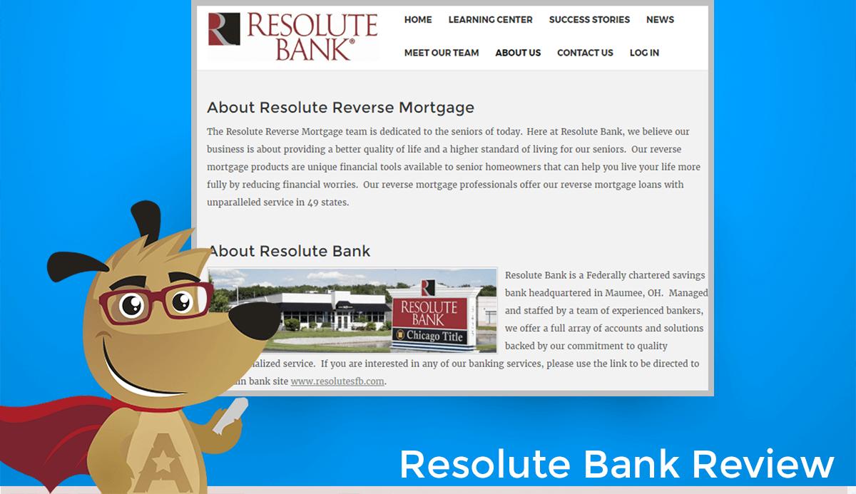 Resolute Bank Reverse Mortgage Website