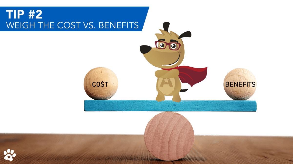 ARLO explaining costs vs benefit