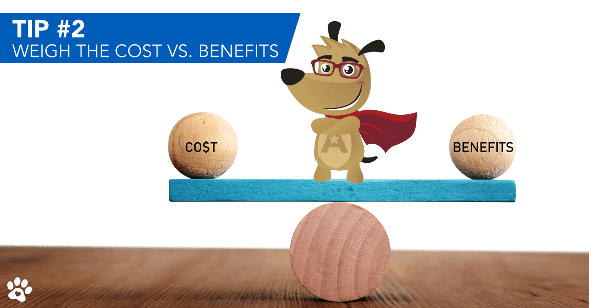 ARLO explaining costs vs benefit