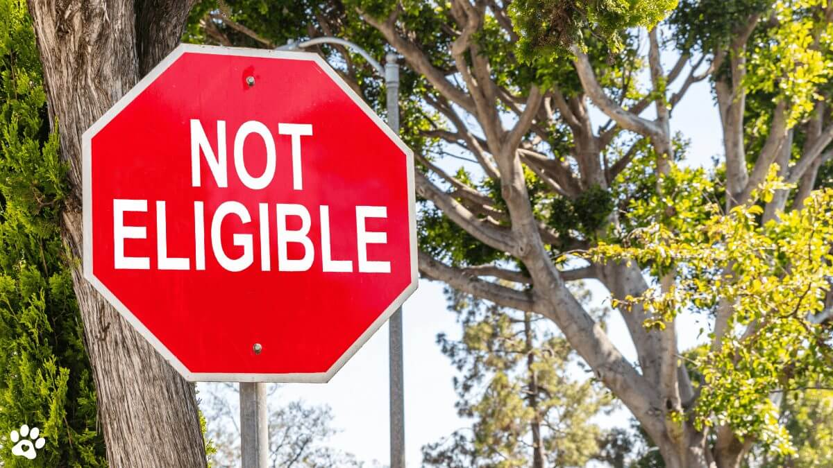 not eligible sign